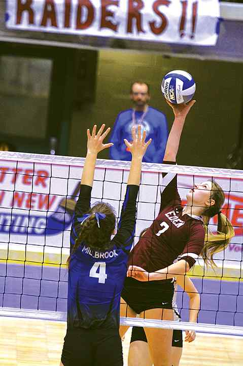 Photo by Dave Eckhardt: Eden junior outside hitter Sam Burgio was named New  York State's Gatorade Player of the Year for girls volleyball.