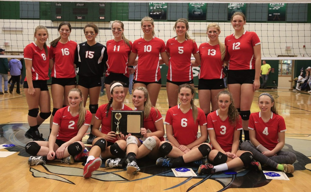 Clarence repeated as the sectional Class AA girls volleyball champion with  a three-set sweep of Lancaster in the finals Tuesday at Pioneer.
