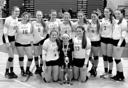 "Williamsville East's girls volleyball team won the Lady Jacks ""Dig Pink""  Volleyball Invitational Saturday at North Tonawanda High School."